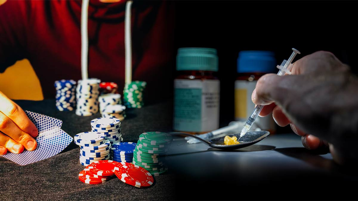 Adicción al juego online y a las drogas ilegales